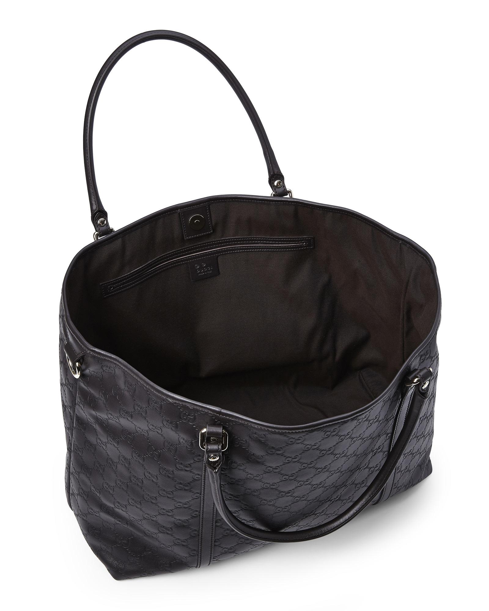 170e30f0743 Lyst - Gucci Guccissima Joy Leather Tote in Black