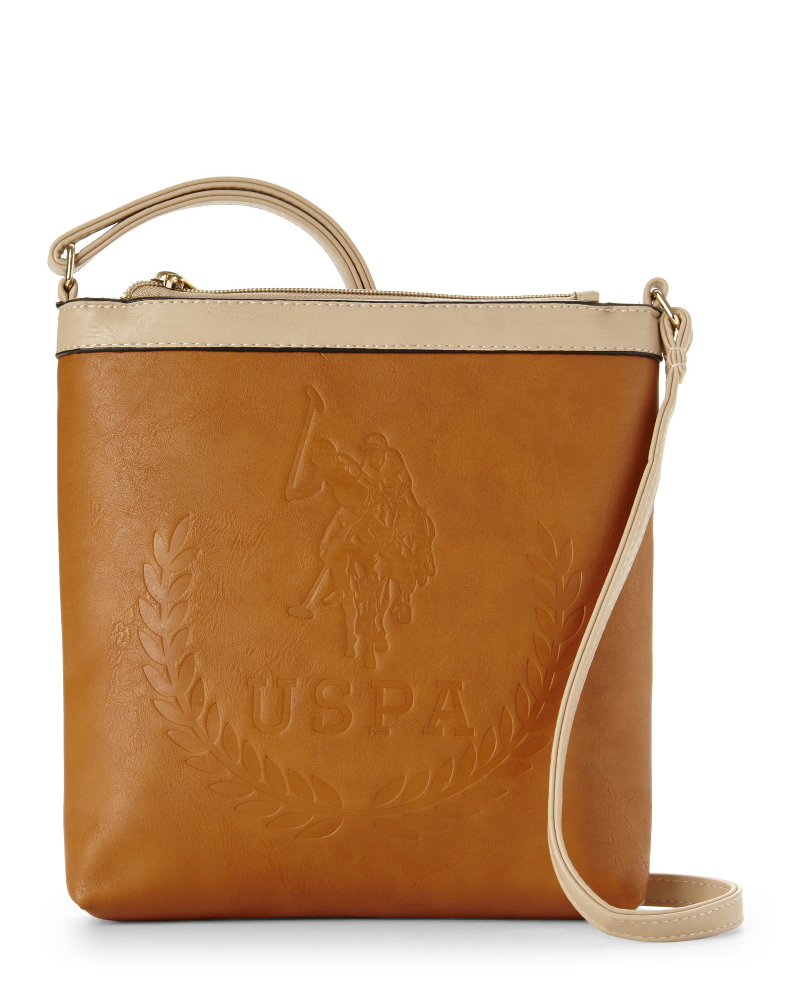 a3e95c319c61 Lyst - U.S. POLO ASSN. Cognac Embossed Billy Crossbody in Brown