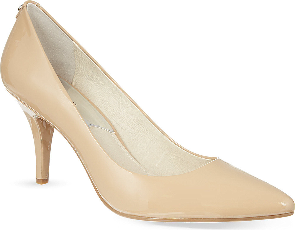 michael michael kors patent leather court shoes in