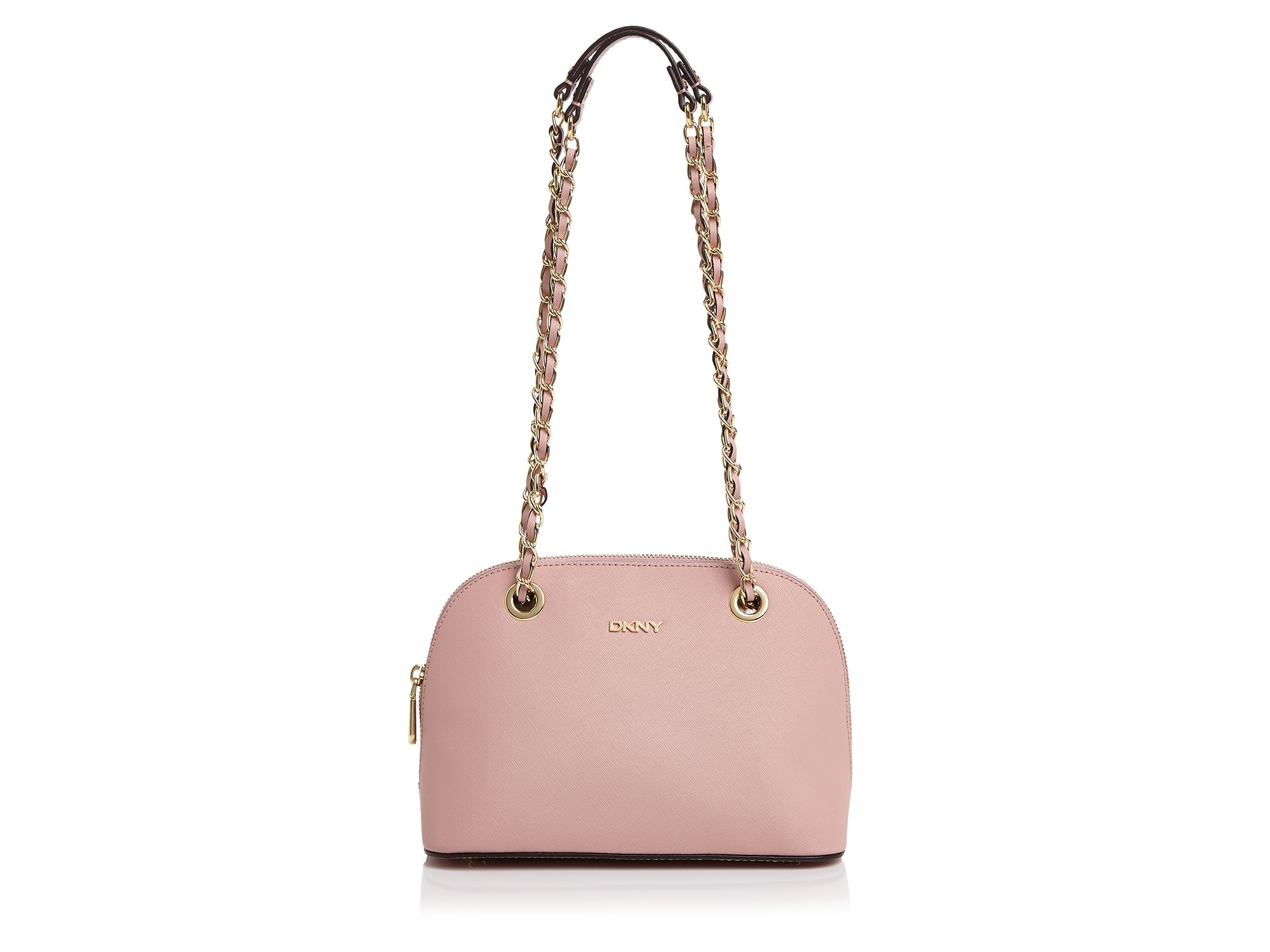 2372fc4f3 DKNY Bryant Park Saffiano Small Round Crossbody in Pink - Lyst