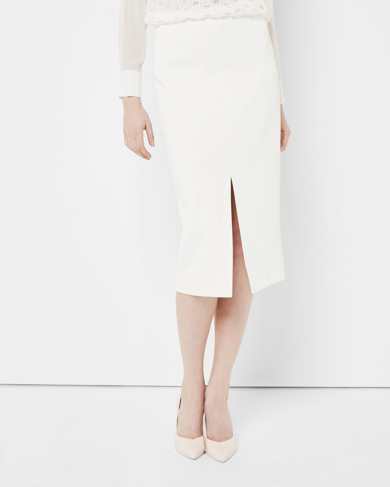 High Waisted Cream Skirt - Dress Ala