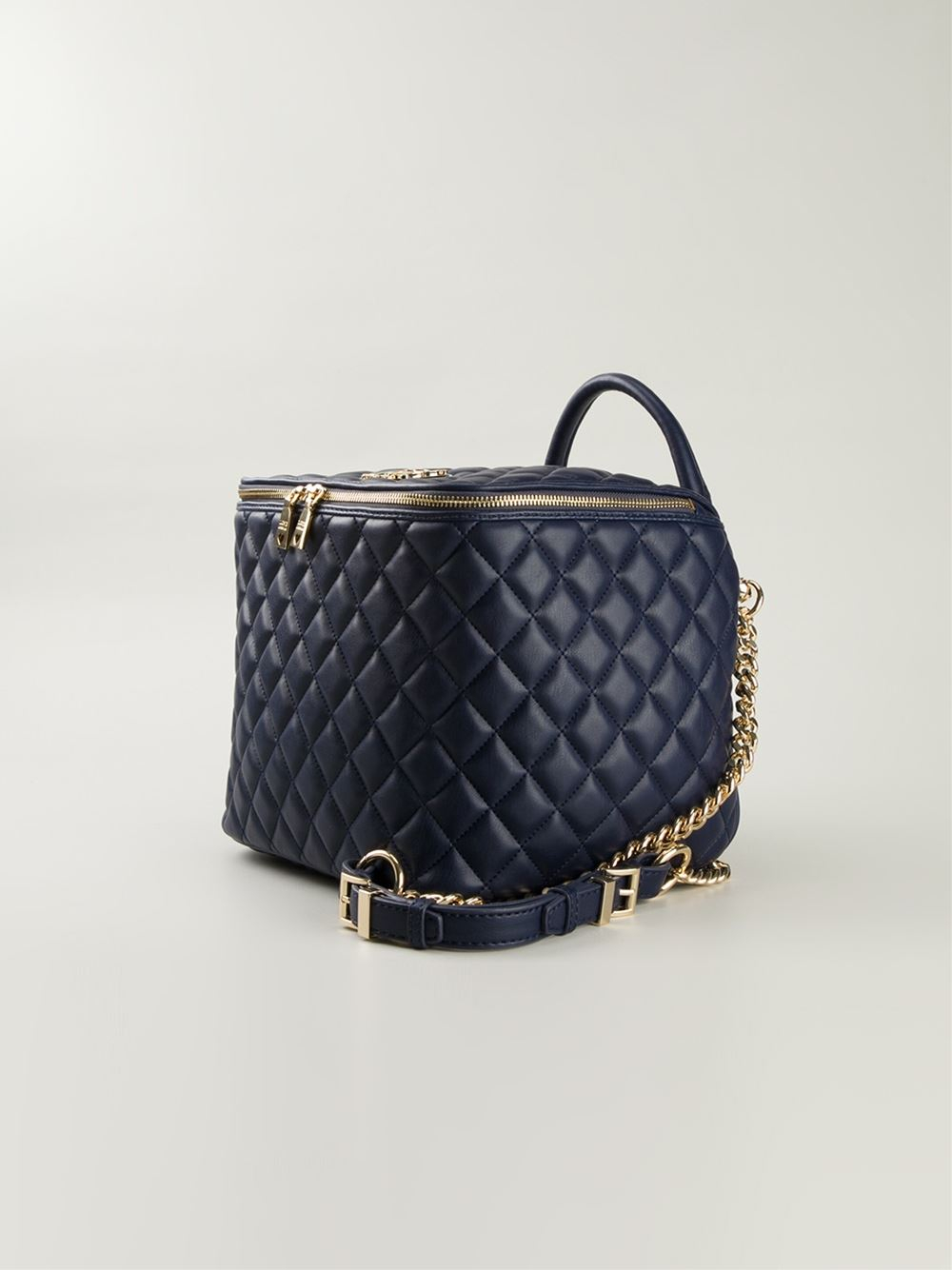 f6036a197f31 Love moschino Quilted-Leather Box Bag in Blue