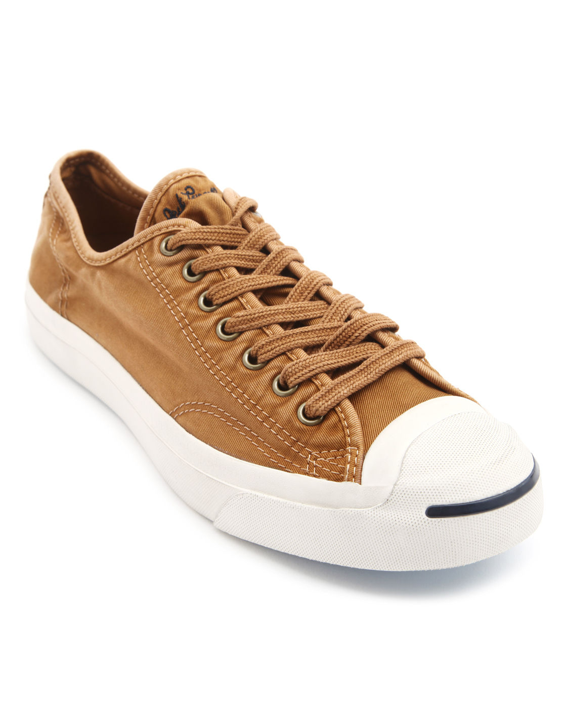 converse purcell camel wash canvas sneakers in brown