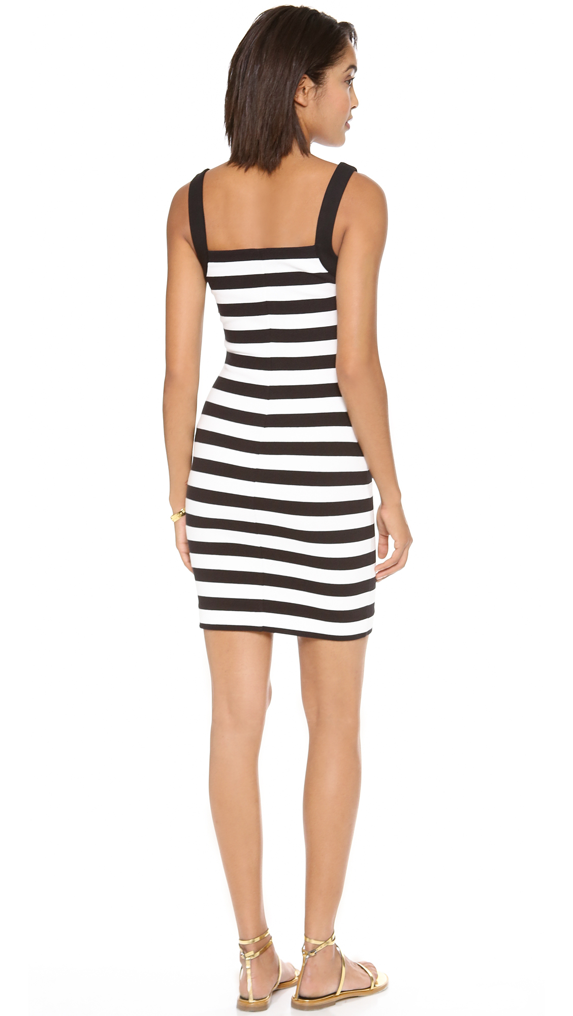Lyst - Juicy Couture Ottoman Striped Print Dress in Black