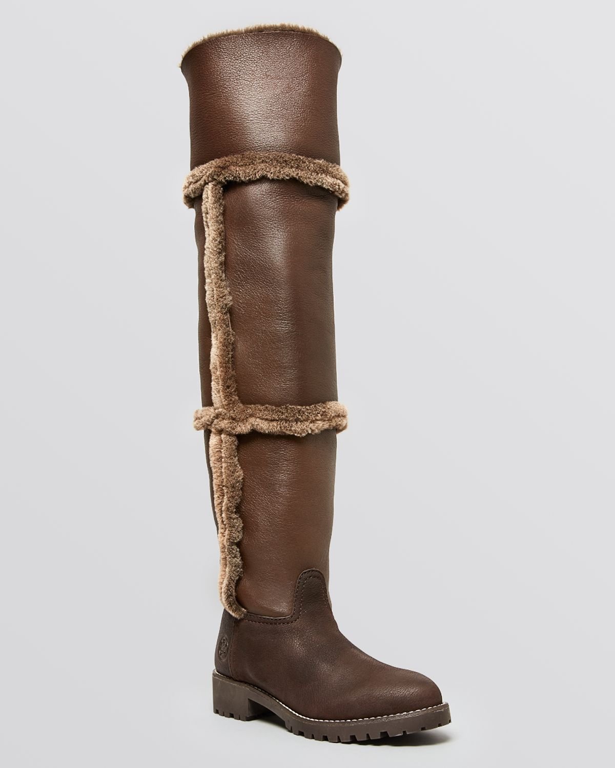 Tory Burch Suede Round-Toe Over-The-Knee Boots quality free shipping clearance geniue stockist latest collections with credit card sale online QnIwsv