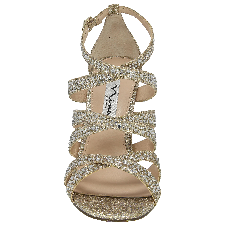 Nina Chantez Sandals In Beige Beige Glitter Lyst