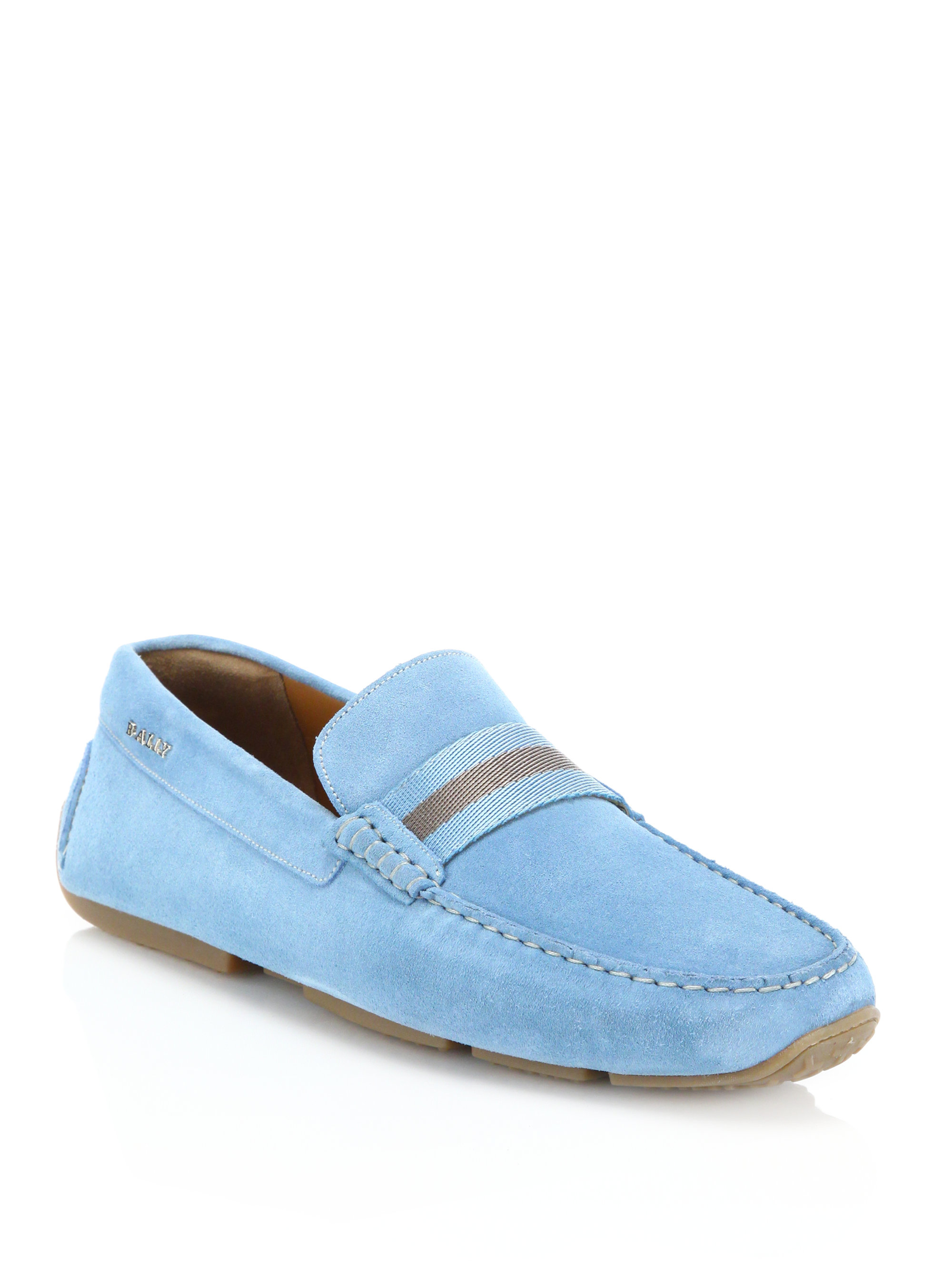 Lyst Bally Pearce Suede Drivers In Blue For Men