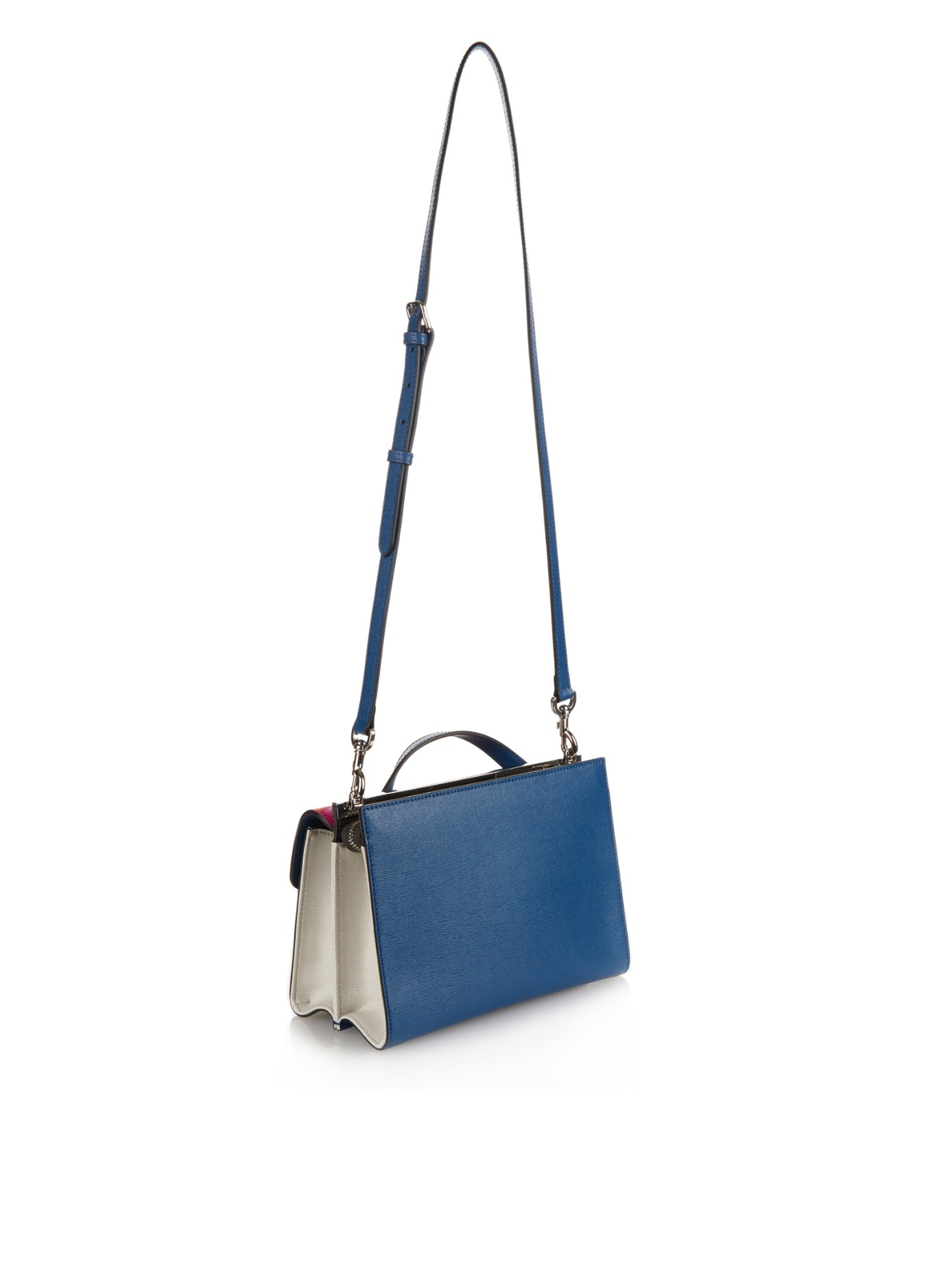 Lyst - Fendi Demi Jour Monster-Eyes Leather Cross-Body Bag in Blue 5613e7656ae0c