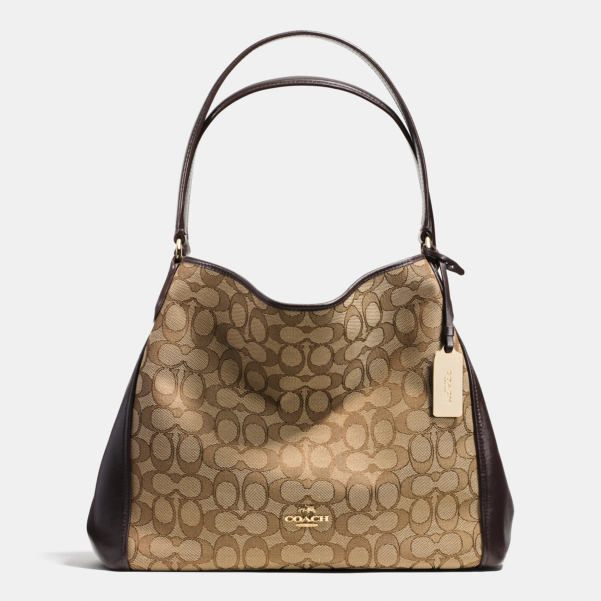 88b2d4fa46e3 Lyst - COACH Edie Shoulder Bag 31 In Signature Jacquard