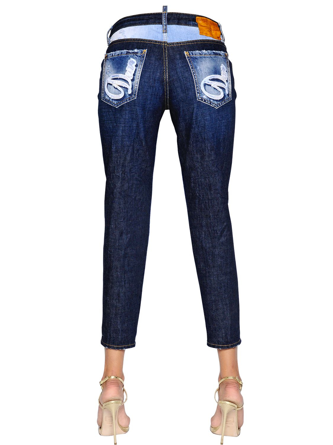 Dsquaredu00b2 Hockney Patch Denim Jeans in Blue | Lyst