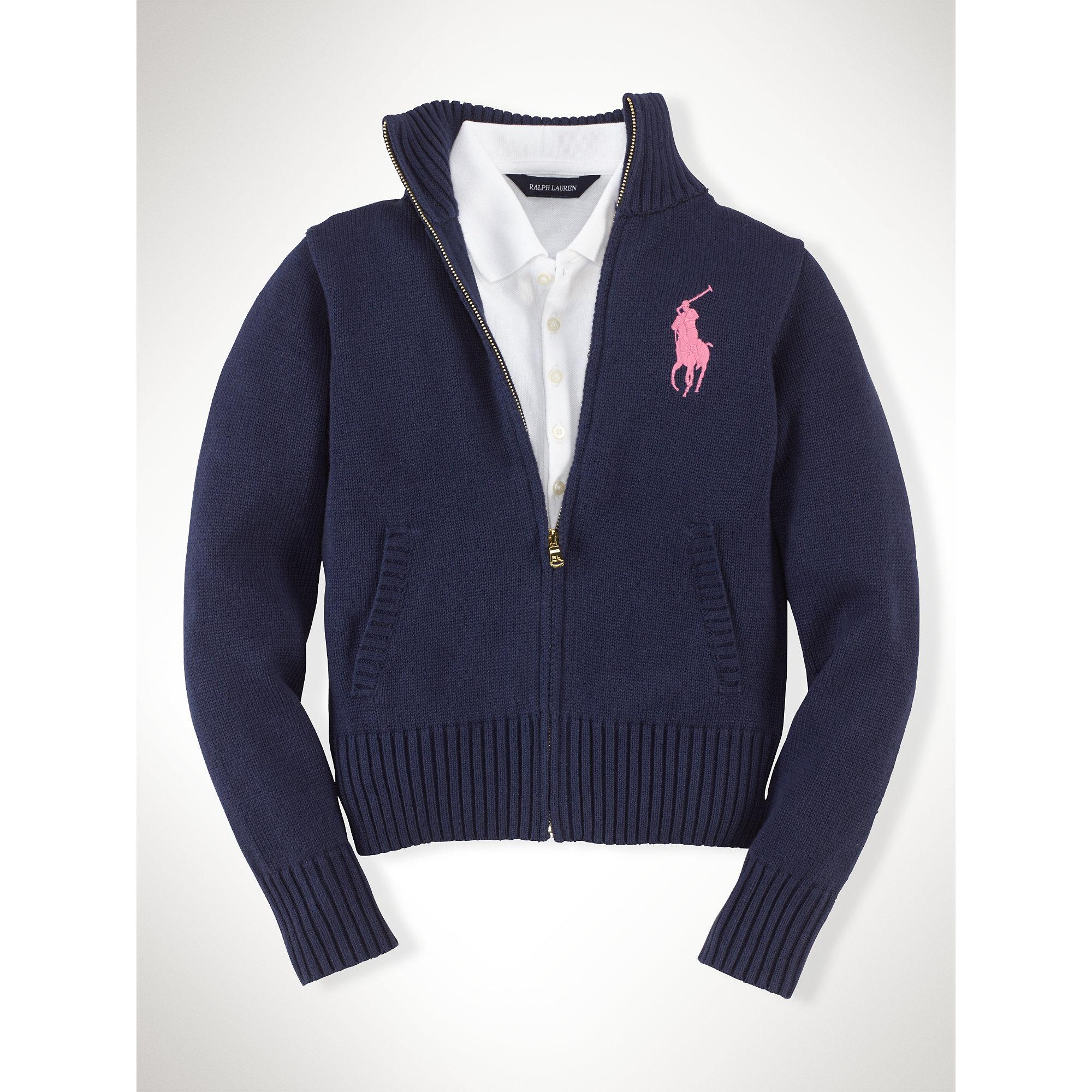 ... Ralph Lauren Men Darkblue Wool Big Pony Sweaters ...