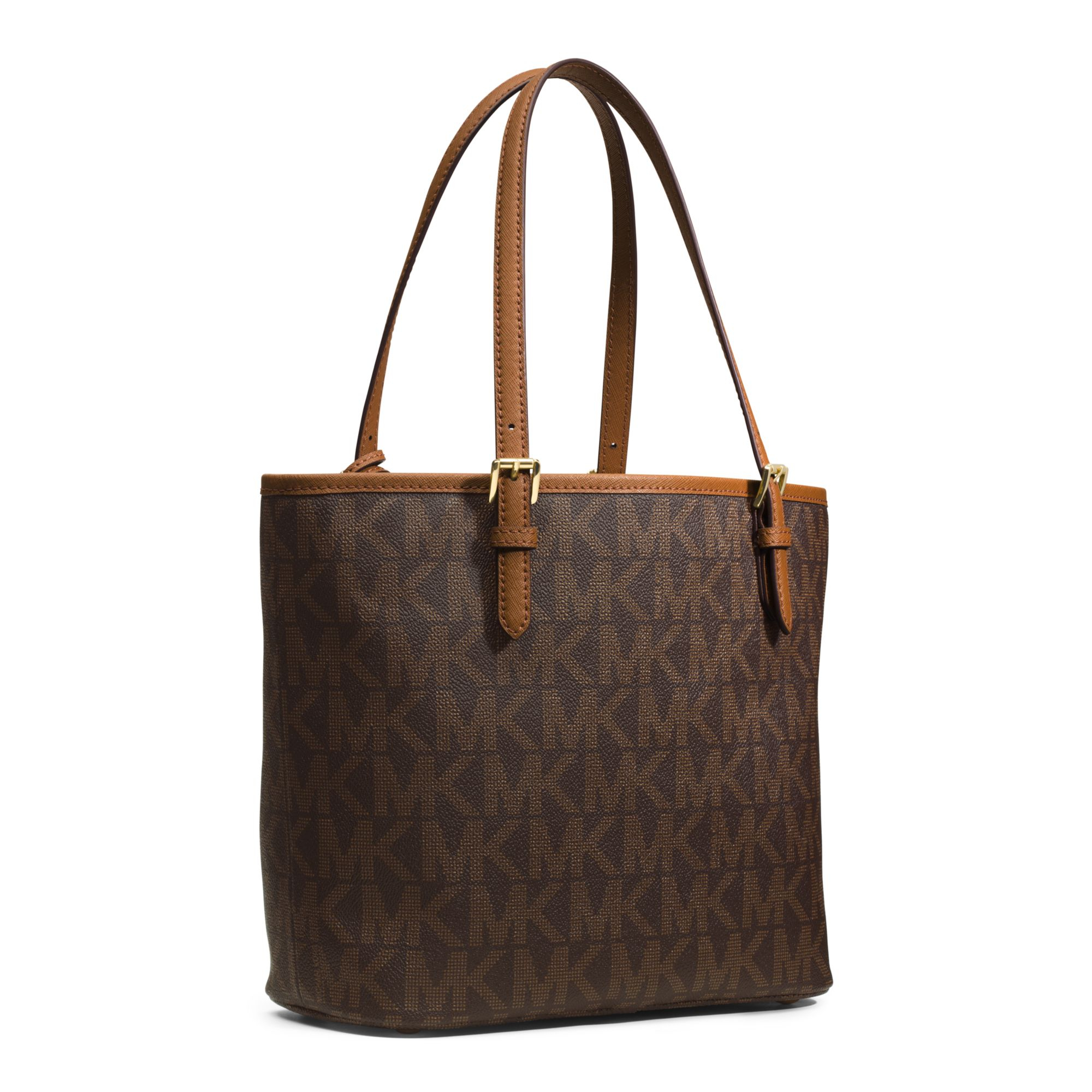 6adee0531d65 Michael Kors Jet Set Travel Medium Logo Tote in Brown - Lyst