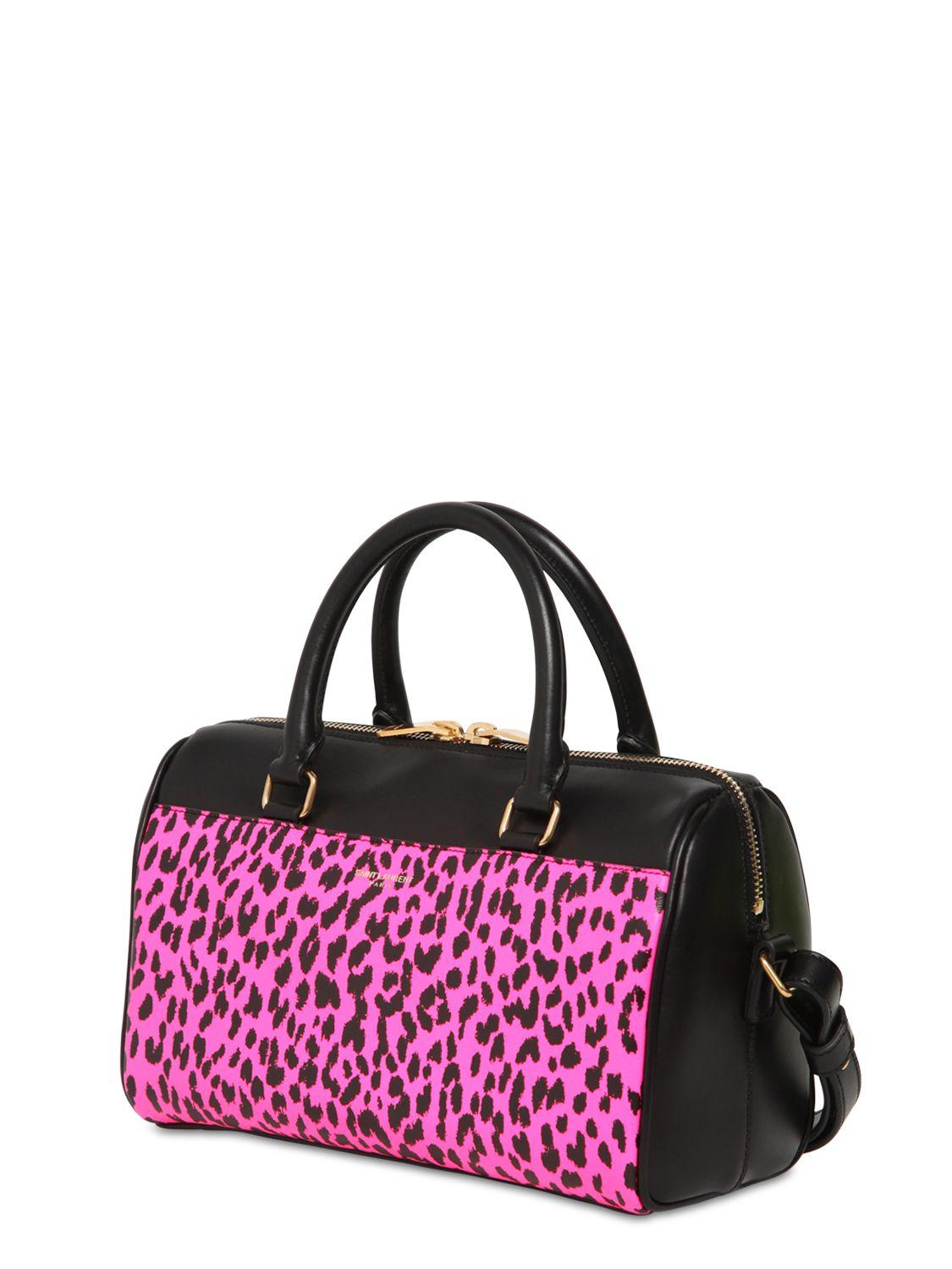 Lyst Saint Laurent Leopard Printed Leather Baby Duffle