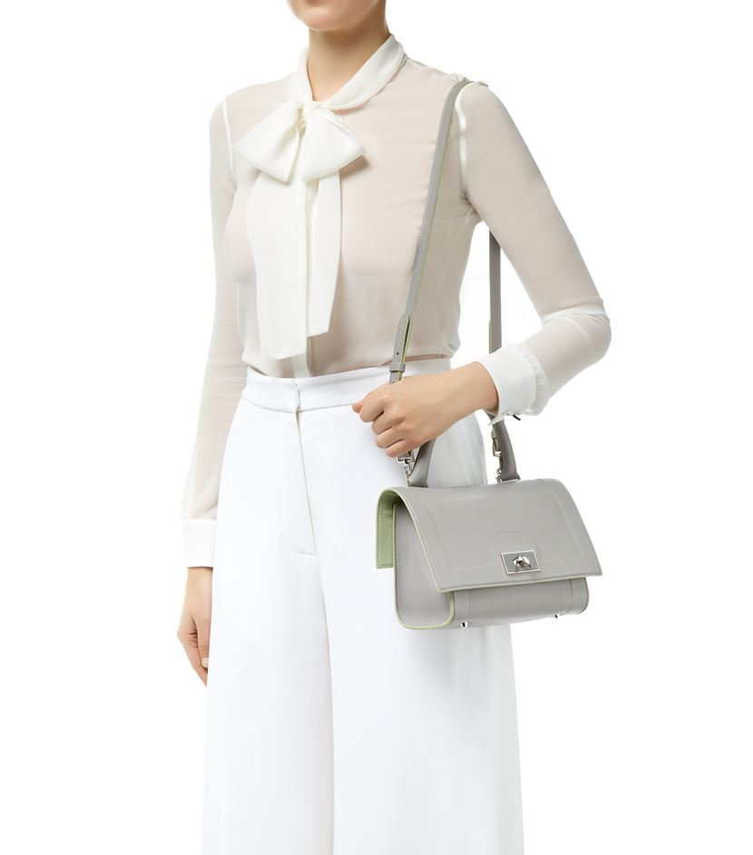 c04578242e Givenchy Mini Shark Leather Bag in Gray - Lyst