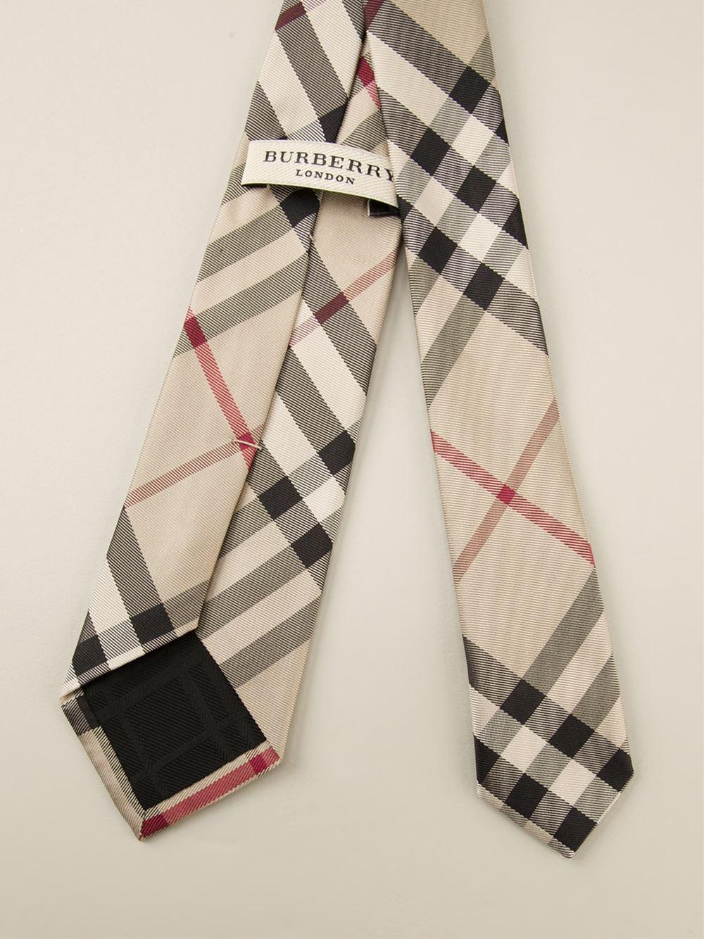 b2c2cffb6821 ... inexpensive lyst burberry nova check tie in brown for men 7679d 2c803
