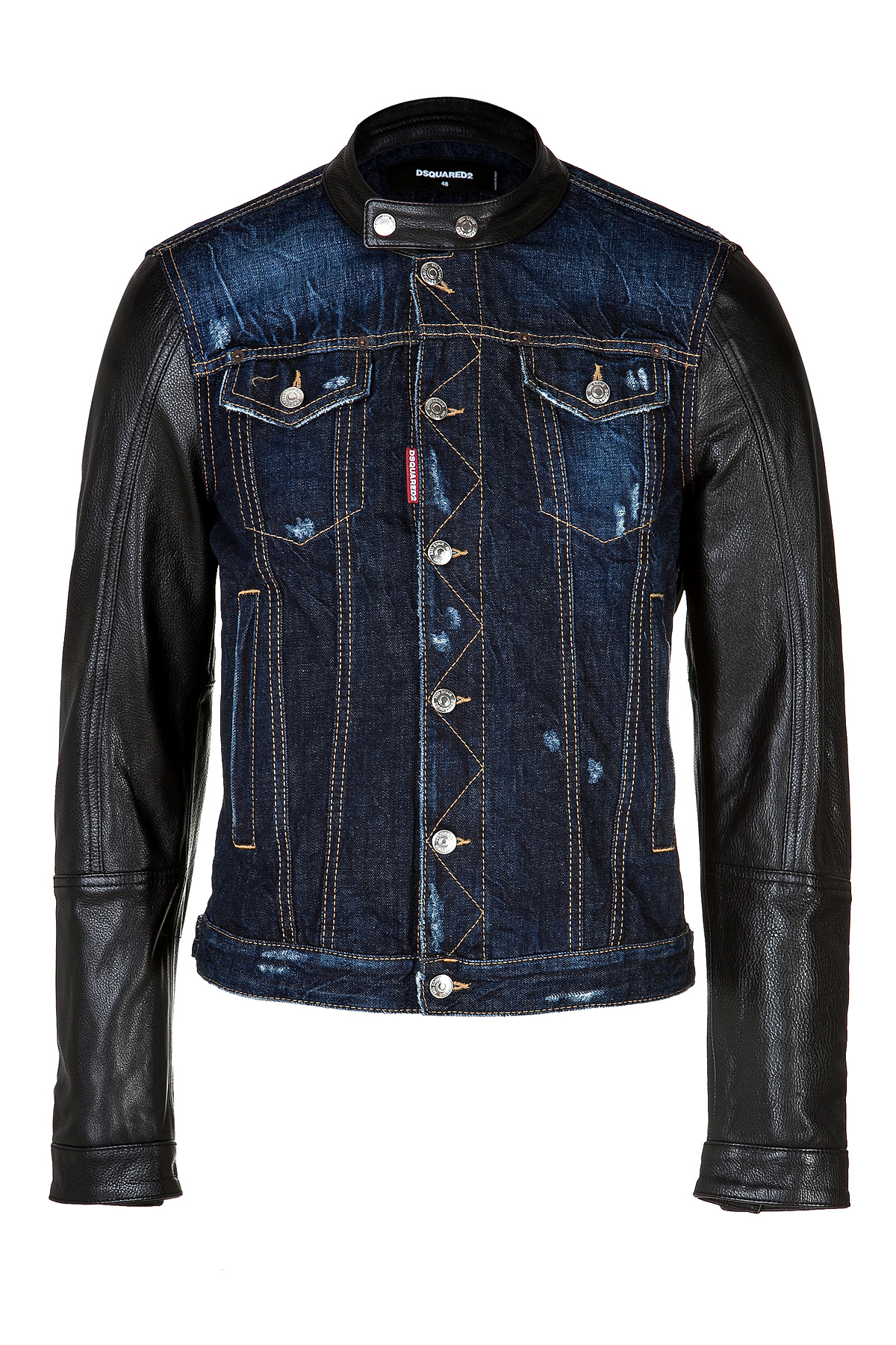 Find mens denim jacket with leather sleeves at ShopStyle. Shop the latest collection of mens denim jacket with leather sleeves from the most popular DSQUARED2 Men's Hooded Denim Jacket w/ Leather Sleeves $1, Get a Sale Alert at Harrods DSQUARED2 Leather DSQUARED2 Blue Leather And Denim Jacket $1, $1, Get a Sale Alert.