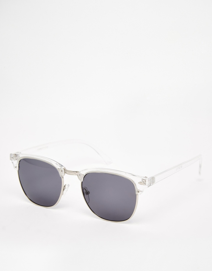 588b3e818d Lyst - ASOS Clubmaster Sunglasses With Clear Frame in Gray for Men