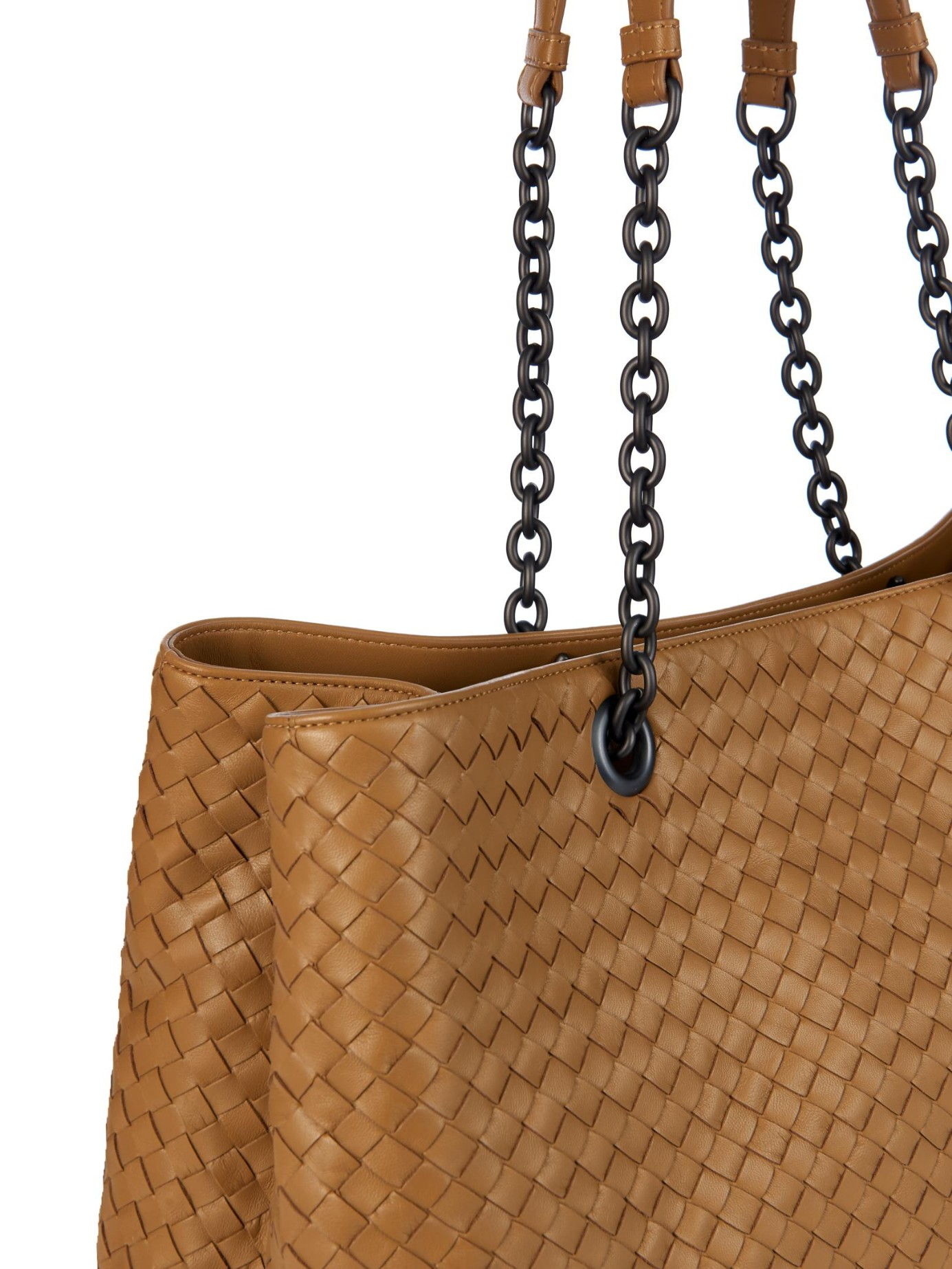 Bottega Veneta Intrecciato Double-handle Leather Tote in Natural - Lyst 7d2932a530d78