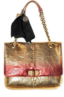 Lanvin Happy Python Metallic Shoulder Bag - Lyst