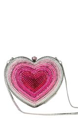 San Blas Faded Crystal Heart Clutch - Lyst