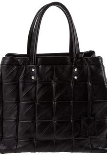 Yves Saint Laurent Quilted Leather Tote Bag - Lyst