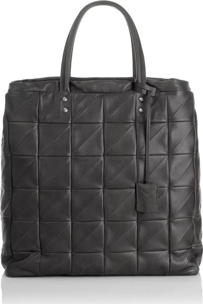Yves Saint Laurent Leather Quilted Bag in Black - Lyst