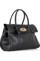 Mulberry Bayswater Leather Bag in Black - Lyst
