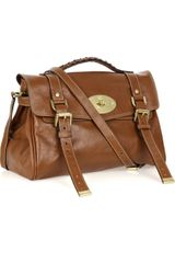Mulberry Alexa Leather Bag in Brown (oak) - Lyst