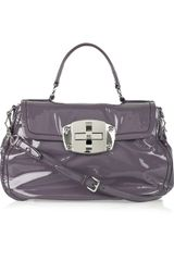 Miu Miu Patent-leather Turn-lock Bag - Lyst