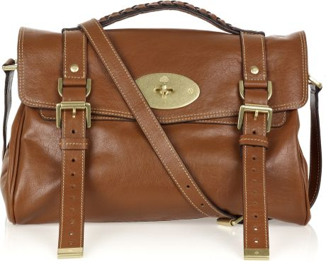 Mulberry Alexa Leather Bag in Brown (oak)