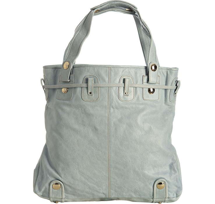 8698735d79a4 Lyst - Gustto Light Blue Leather Parina Drawstring Large Tote in Blue