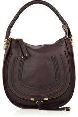 Chloé Marcie Small Leather Hobo Bag - Lyst