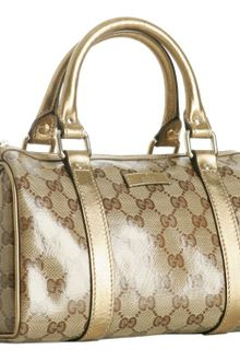 Gucci Gold Crystal Gg Joy Small Boston Bag - Lyst