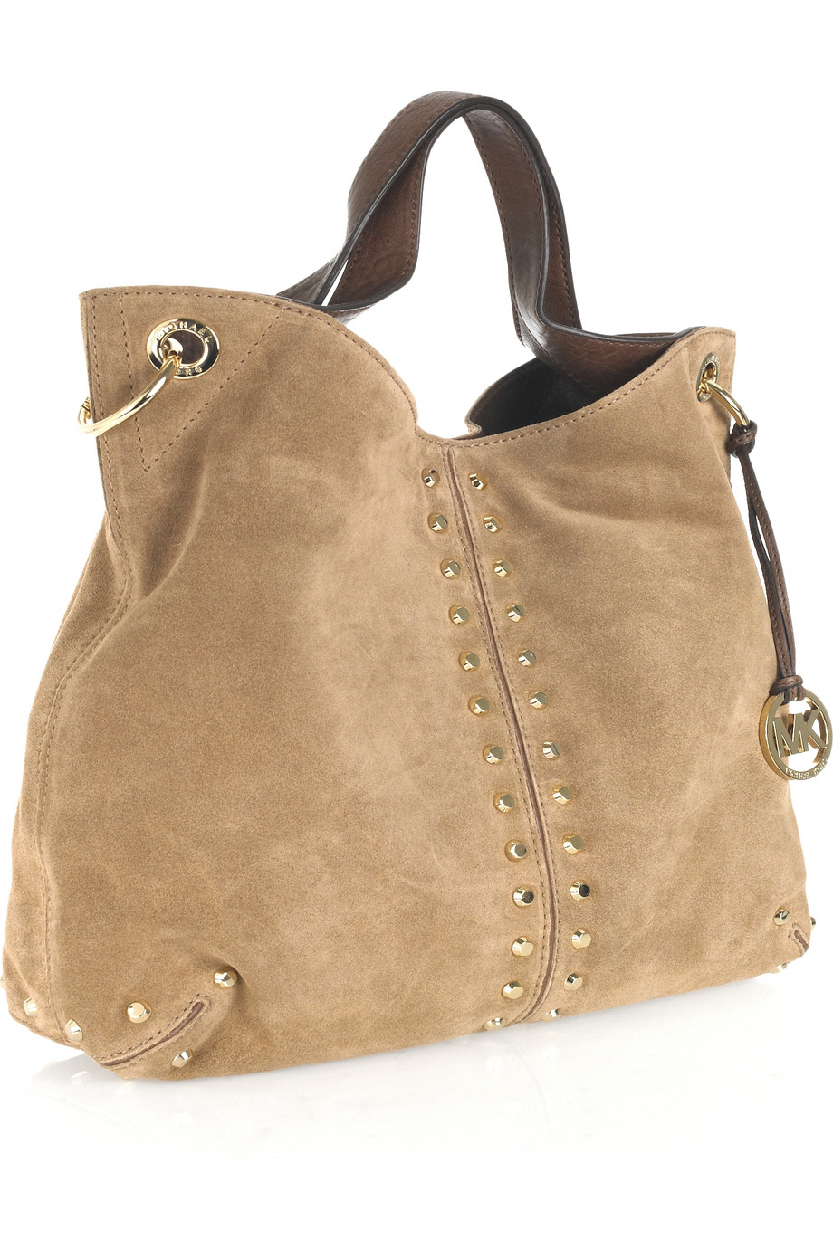 14f75a64ae9a Lyst - MICHAEL Michael Kors Uptown Astor Large Suede Tote in Brown