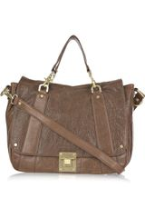 Tory Burch Dayton Messenger Leather Satchel - Lyst