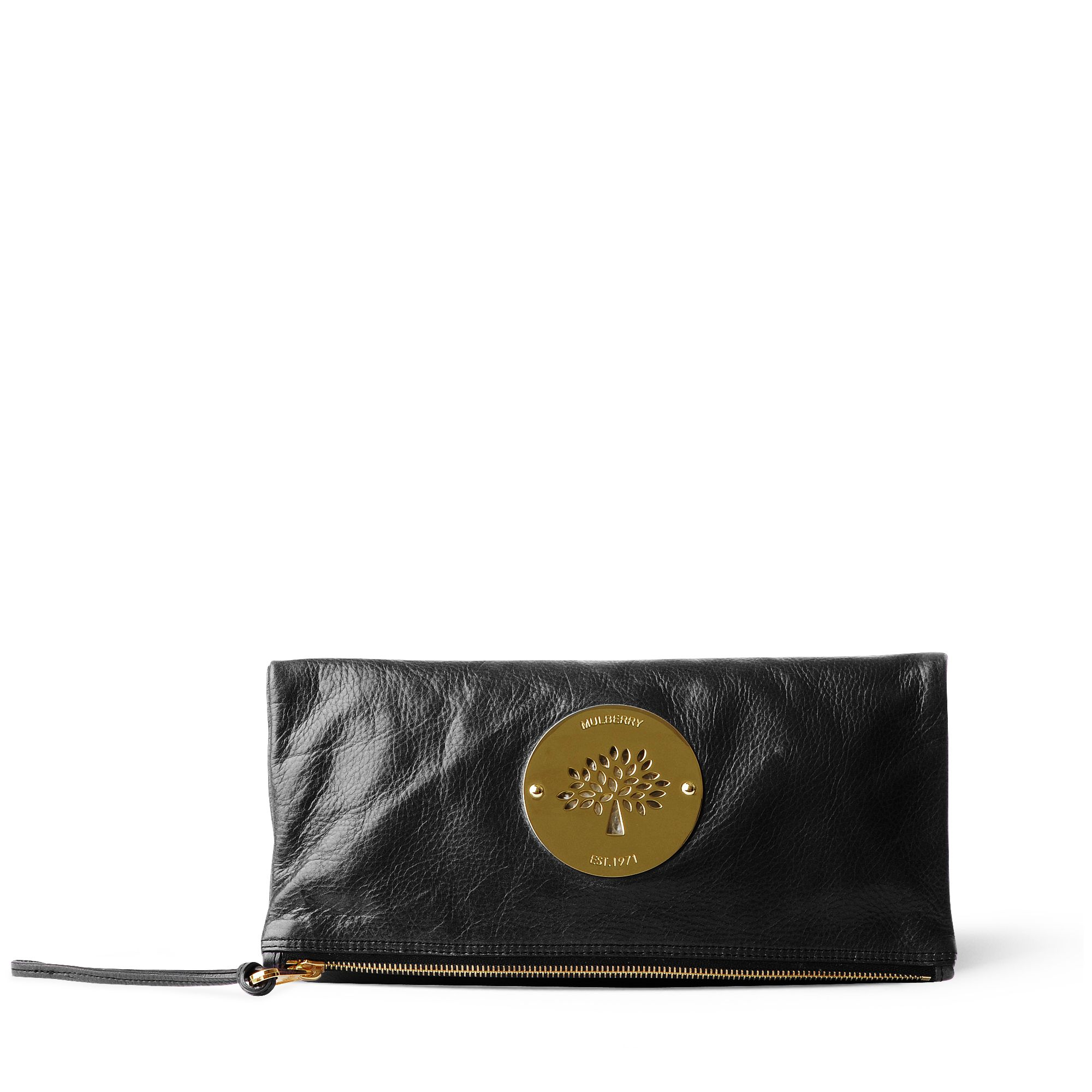 ee4afc51c7 ... amazon mulberry daria clutch bag in black lyst 390a3 513be