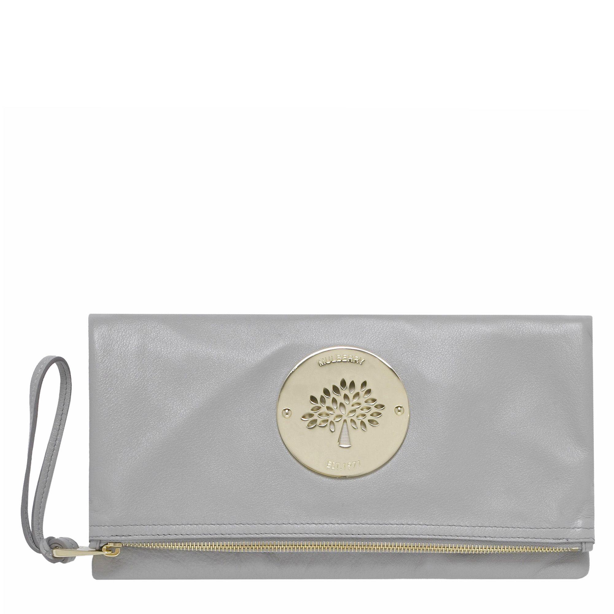 749e8b25adca ... australia mulberry daria clutch bag in natural lyst f5ac7 69e83
