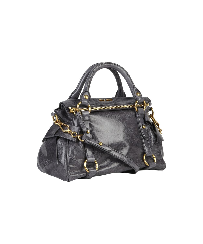 615a55e2f9ce Miu Miu Mini Grey Vitello Bow Bag in Gray - Lyst