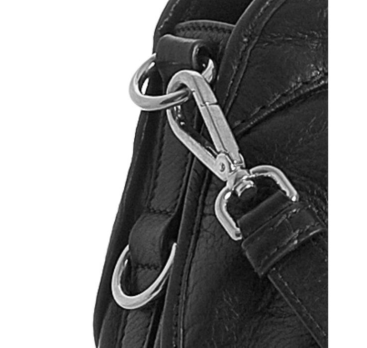 Prada Black Nylon-calfskin Large Bauletto Bowling Bag in Black | Lyst
