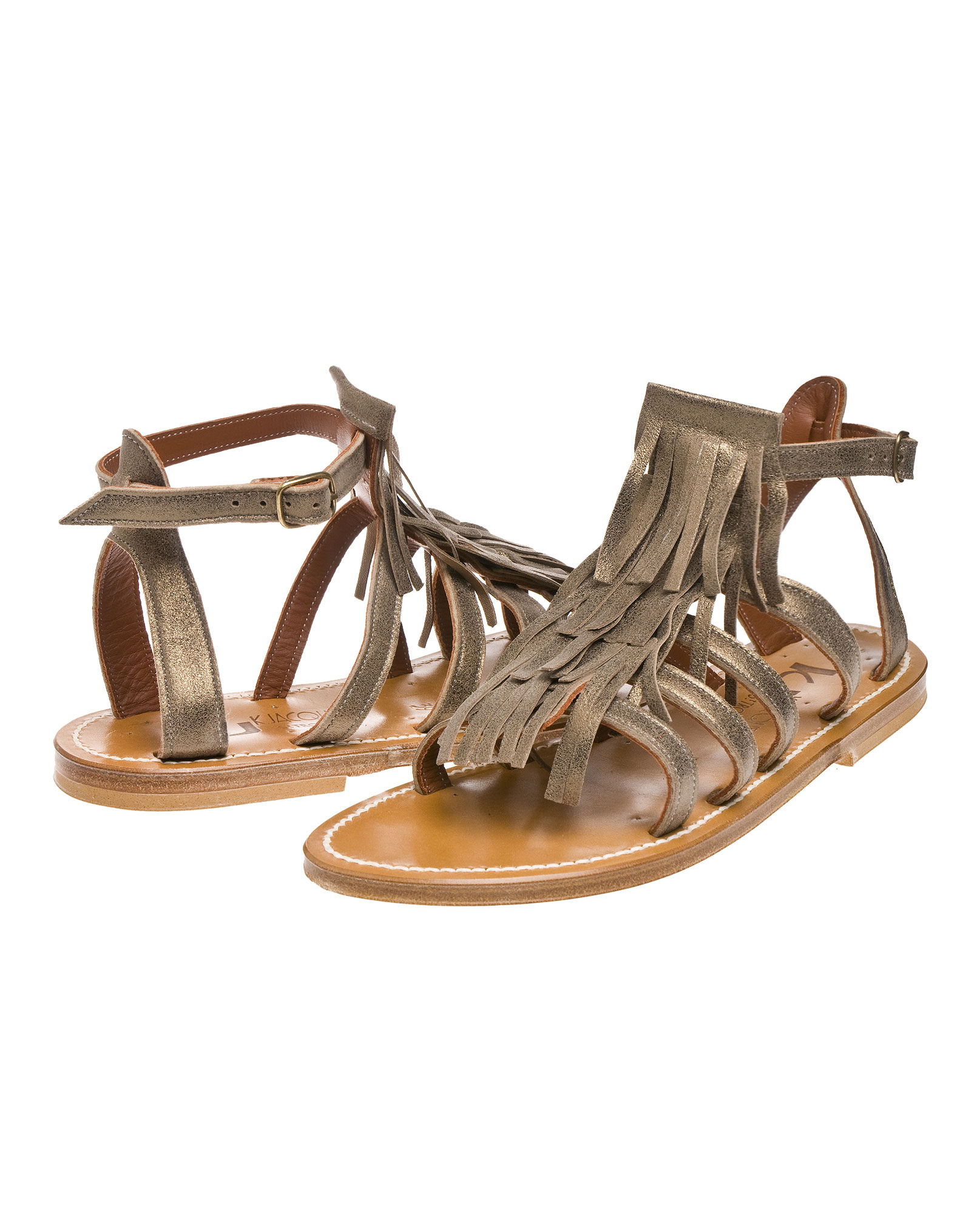 fringe sandals - Metallic K.Jacques Hot emx0zQbD7