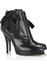 Givenchy Ribbon Leather Ankle Boots - Lyst