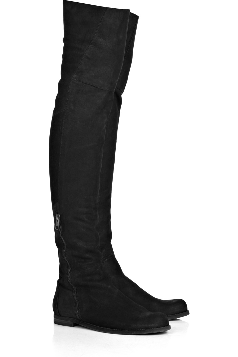 joseph flat suede the knee boots in black lyst