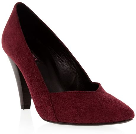 Joux Joux Nubuck Sonic Pumps in Purple (burgandy) - Lyst