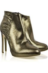 Rupert Sanderson Metallic-leather Ankle Boots - Lyst
