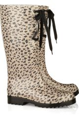 See By Chloé Lace-up Wellington Rain Boot - Lyst