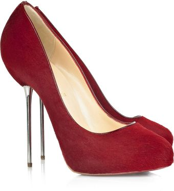 Christian Louboutin Big Lips 120 Calf Hair Pumps - Lyst