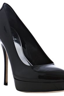 Gucci Black Patent Leather Sofia Platform Pumps - Lyst