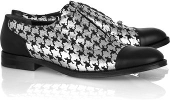 Marc Jacobs Houndstooth Leather Brogues - Lyst