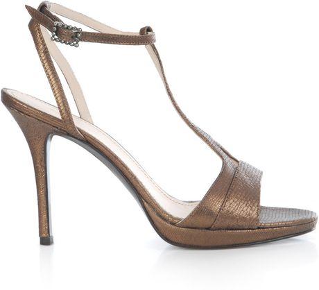 max mara metallic evening shoes in gold bronze lyst