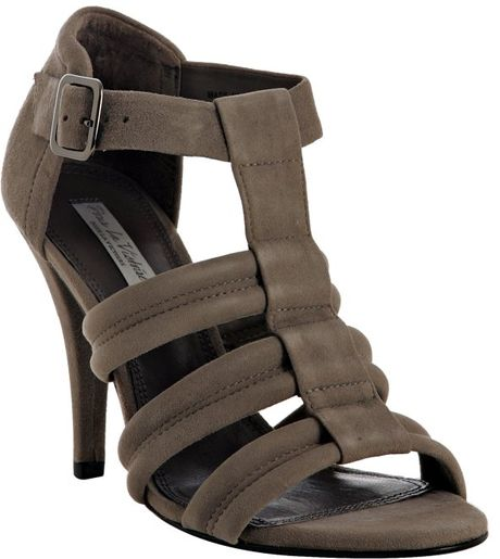Pour La Victoire Grey Suede Erica Sandals in Gray (grey) - Lyst